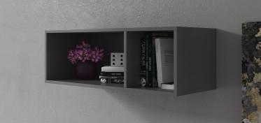 Wandkast Eos - Grijs - 90 cm - ACTIE