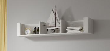 Wandplank Aversa - Wit eiken - 119 cm