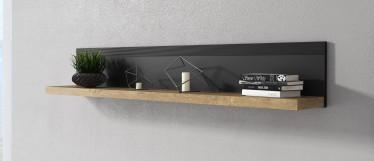 Wandplank Herman - Zwart - Eiken - 150 cm