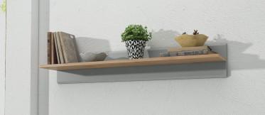 Wandplank Iris - Grijs - Eiken - 90 cm - ACTIE