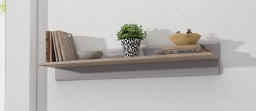 Wandplank Iris - Grijs - Eiken - 90 cm