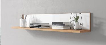 Wandplank Morey - Wit - Eiken - 137 cm