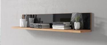 Wandplank Morey - Zwart - Eiken - 137 cm