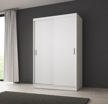 Kledingkast Winne - Wit - 130 cm